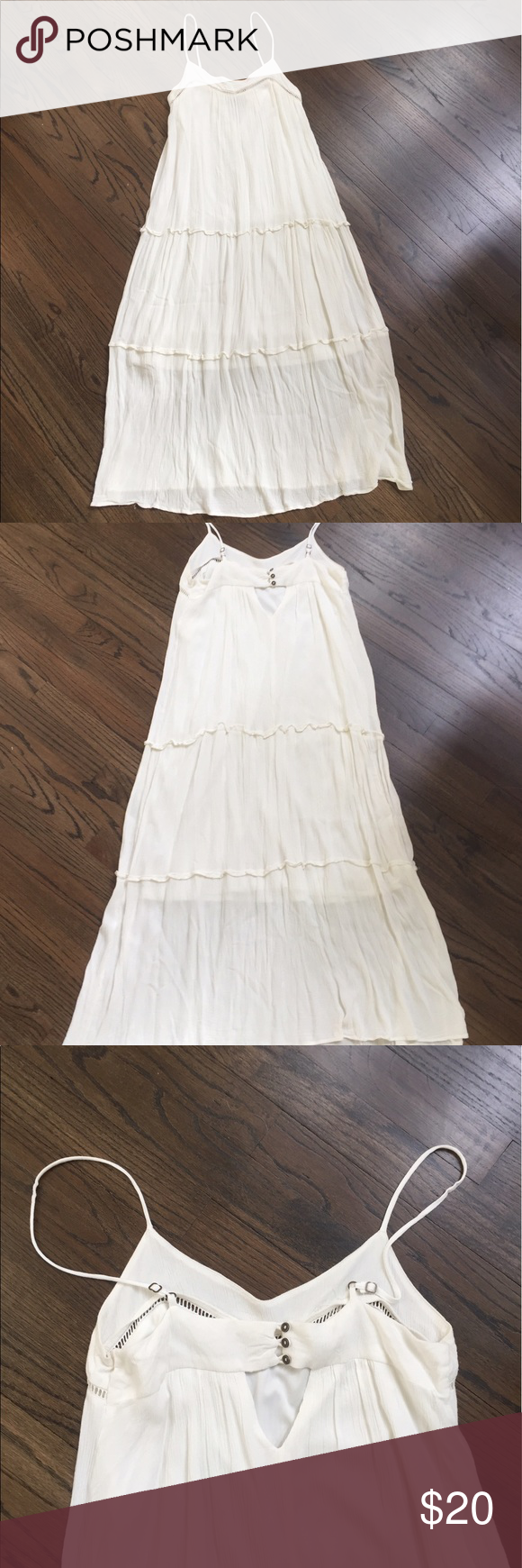 White Xhilaration Maxi Dress Clothes Design Maxi Dress Fashion [ 1740 x 580 Pixel ]