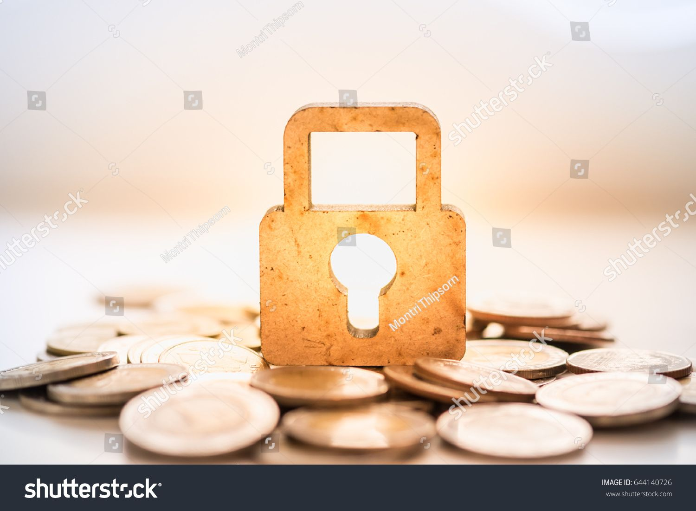 Money security concept wooden master key stock photo edit