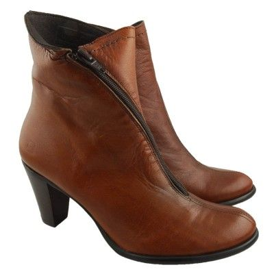 Love these leather ankle boots, imported from Spain.