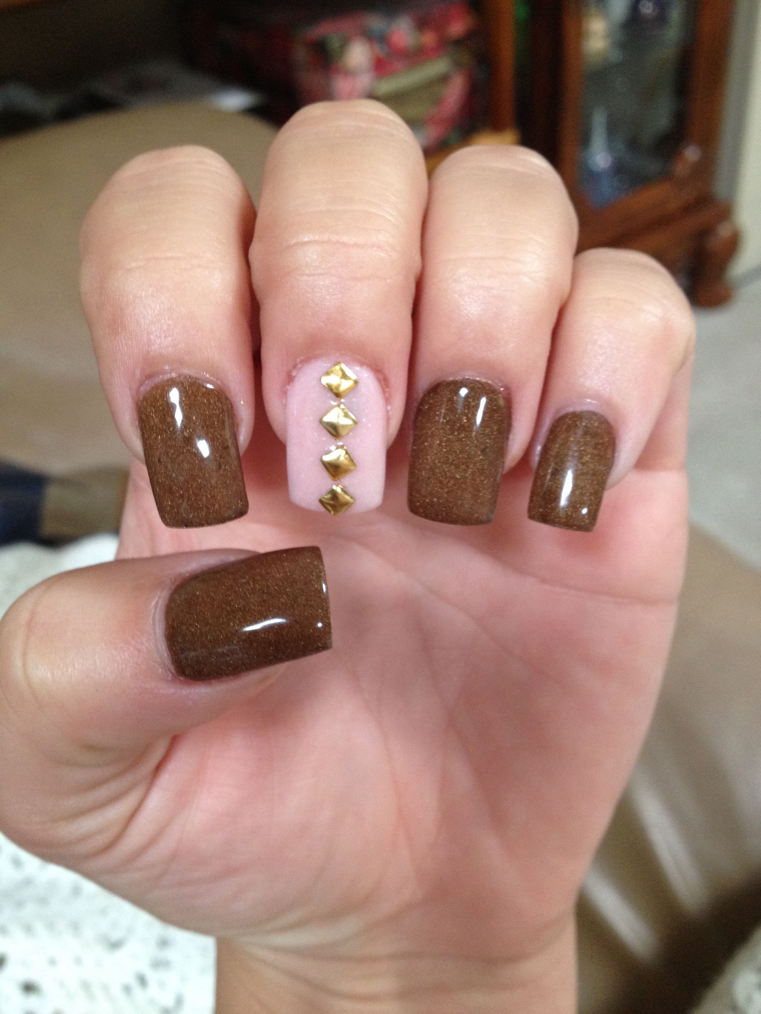 Fall nails | Nails | Pinterest | Mani pedi, Makeup and Hair makeup
