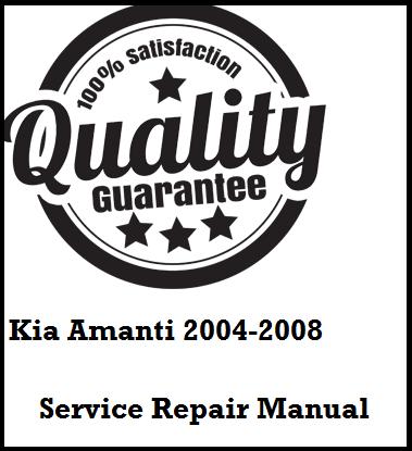 Kia Amanti 2004 2005 2006 2007 2008 This a complete
