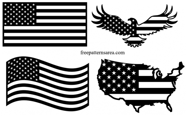 Usa United States American Flag Vector Images Freepatternsarea American Flag Drawing American Flag Images American Flag Decal