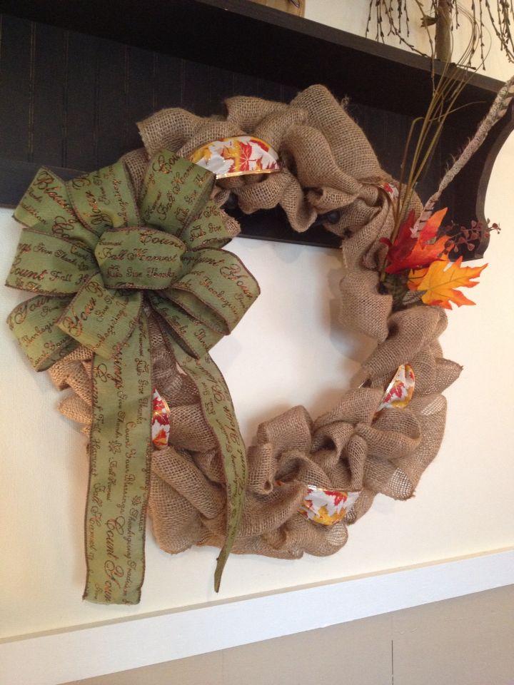 Fall wreath I made
