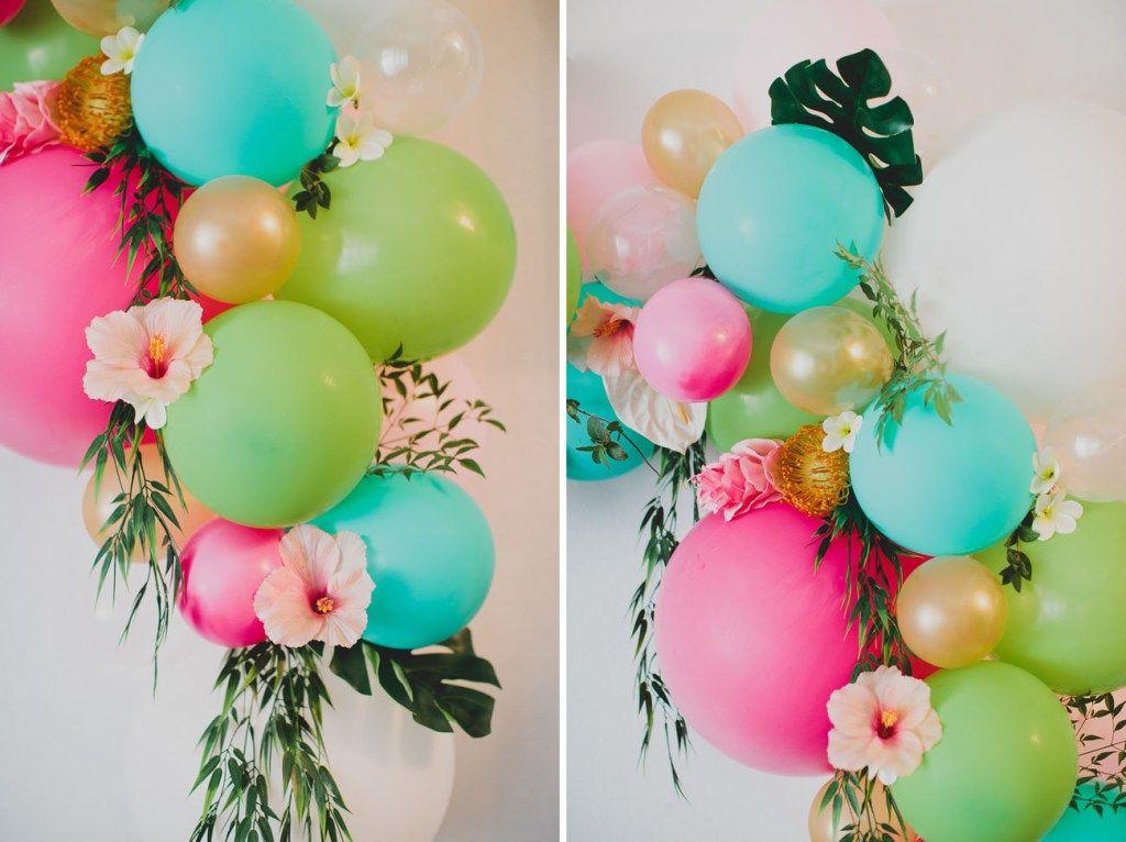 DIY Floral Balloon Arch Floral balloons, Floral balloon