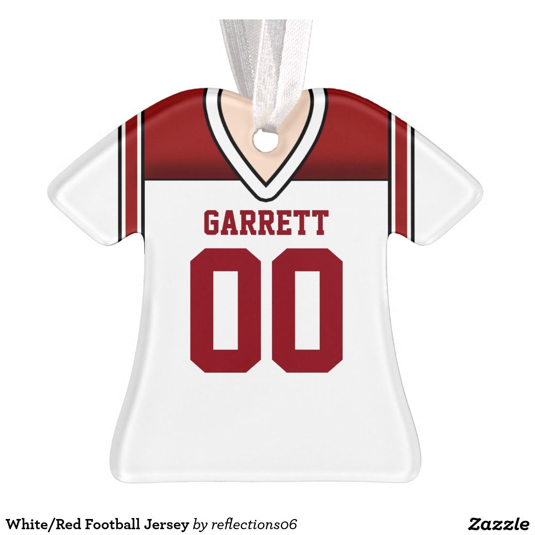White/Red Football Jersey