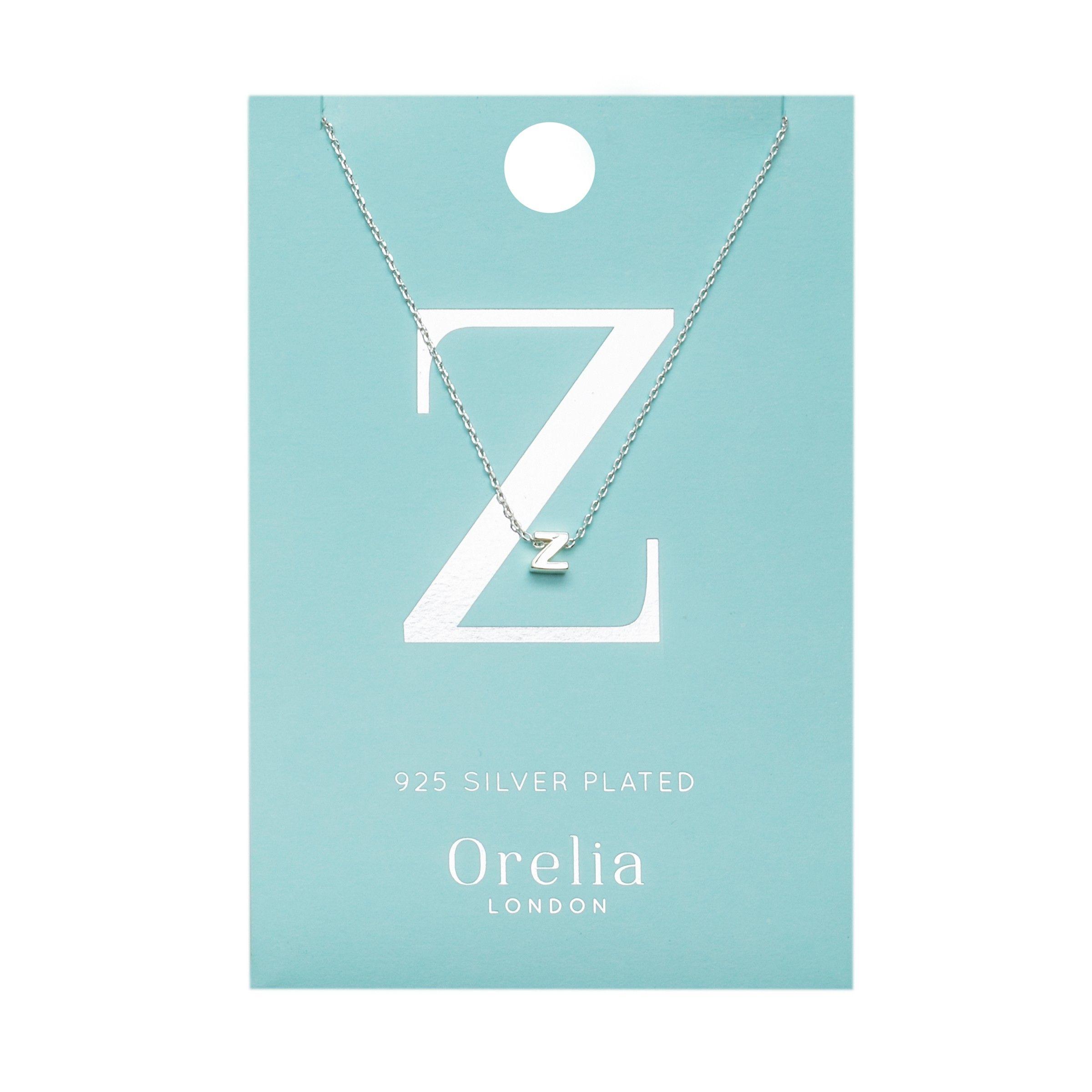 cfec7dcdc26df Silver Z Initial Necklace