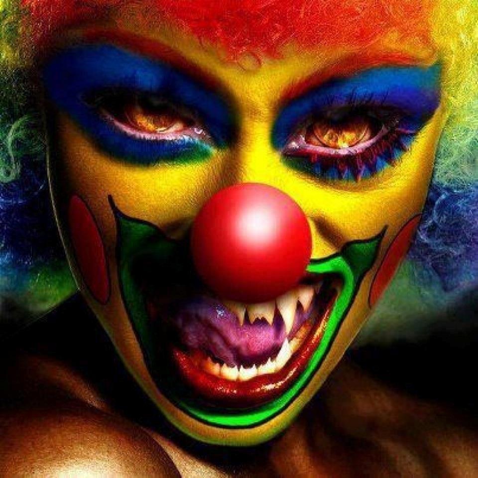 #creepy #scary #clowns