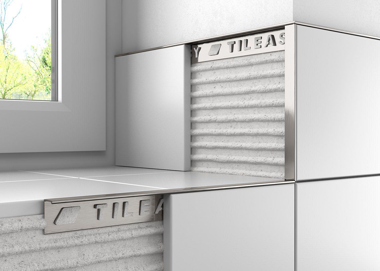 Metal Square Edge Trim – Tileasy   Kitchen Ideas   Pinterest ...
