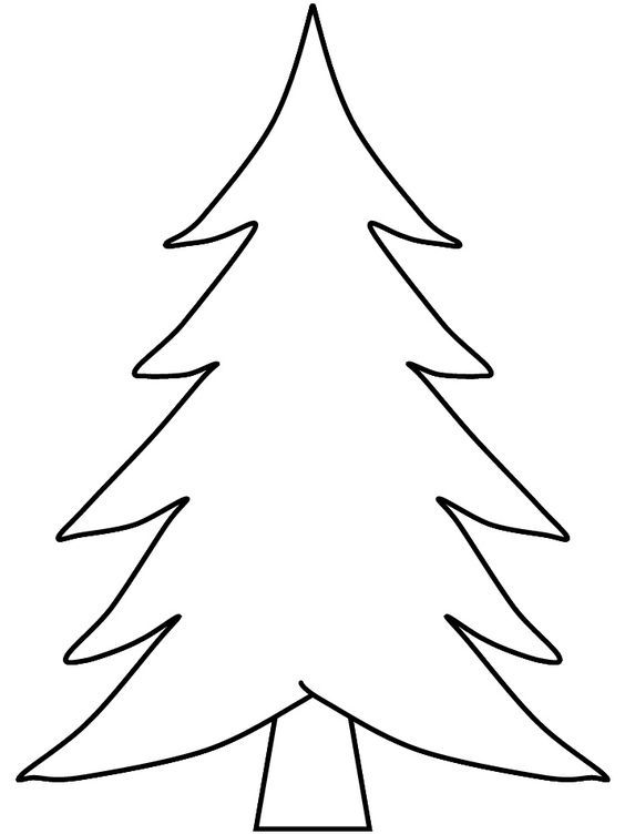 pix for  blank christmas tree coloring  weihnachtsbaum