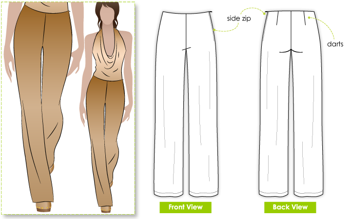 Leah Lounge Pant sewing pattern. Making some new polka-dot pants ...