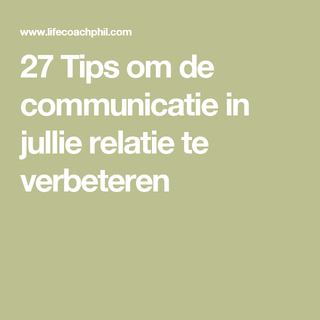 communicatie in relatie