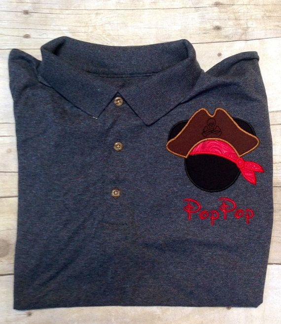 Custom Made to order Personalized Disney Embroidered Polo Shirt .. Dad..  Grandpa.