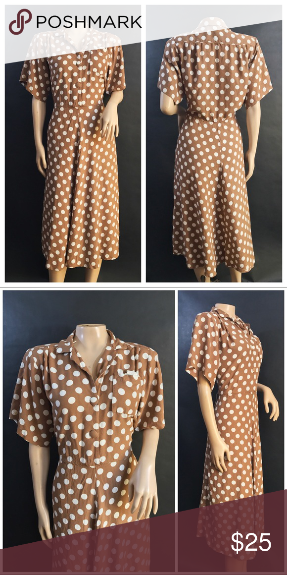 Pretty Woman Polkadot Brown and White Dress Brown and white polkadot dress  by Dawn Joy Fashions. Reminds me of the polkadot dress Julia Roberts wears  in the ... 2872062bd