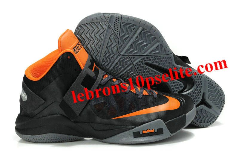 sports shoes 44bf0 24808 Nike Zoom Zoom LeBron Soldier 6(VI) Black Orange Gray