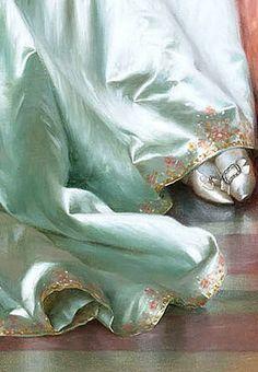"""Vittorio Reggianini (Italian,1858-1938) """"La Soirée""""/detail"""