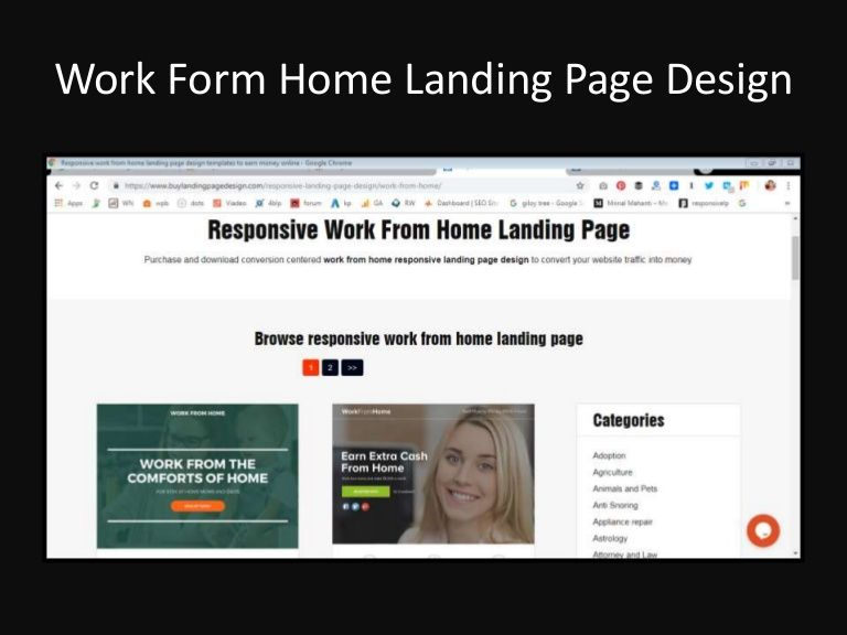 Download Professionally Design High Converting Work From Home Landing Page Design To Capture Quality Leads For You Landing Page Design Page Design Landing Page