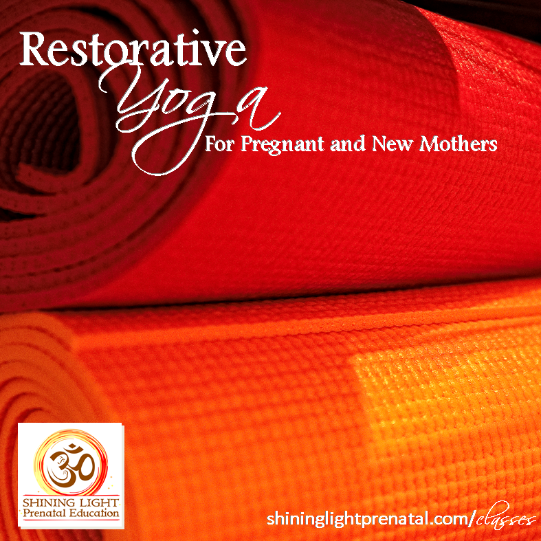 The next installment of Restorative Yoga for Pregnant and New Mothers is TONIGHT! 6:30-8:00 pm. Come and relax with us!  Through the comfortable, supported postures of Restorative #Yoga, we'll drop into a deep state of physiological relaxation that many #women find to be helpful in increasing mental, emotional and physical comfort throughout their #pregnancies and into their #postpartum period.  For more information or to register, visit: http://shininglightprenatal.com/classes