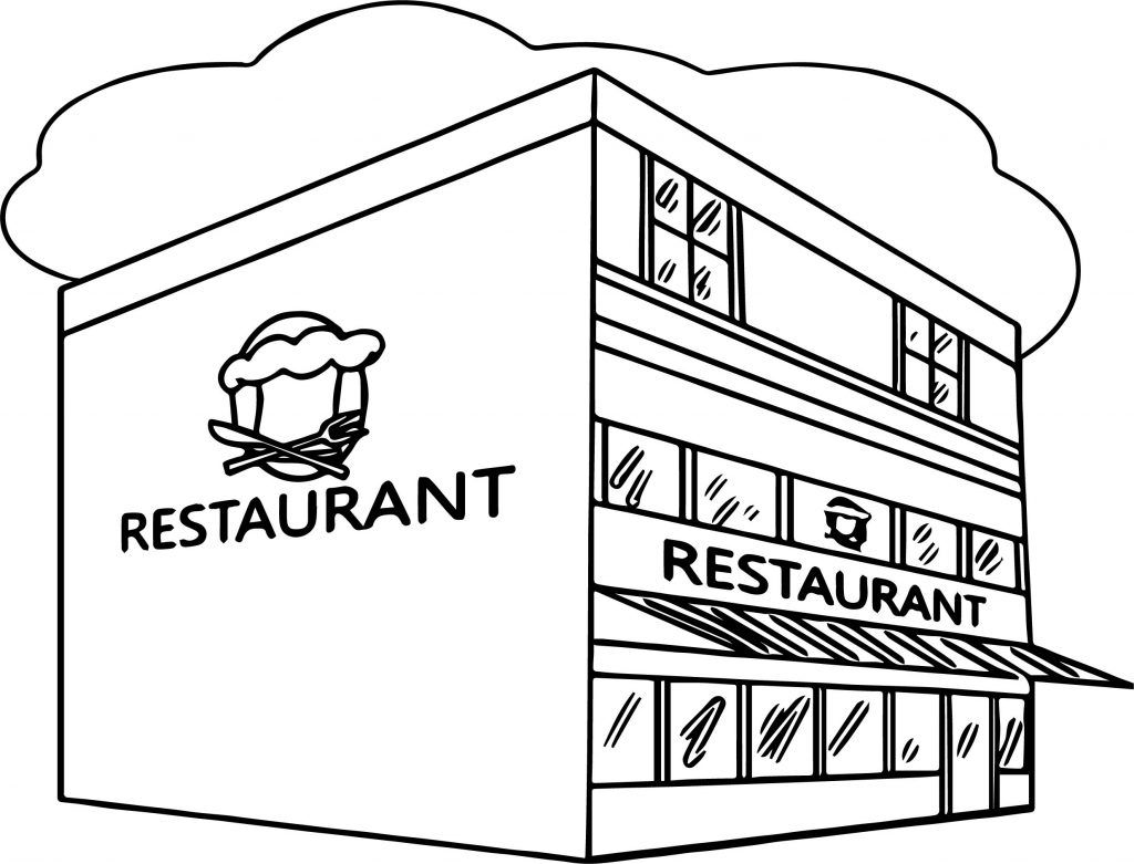 Restaurant Coloring Pages Coloring Pages For Kids Coloring