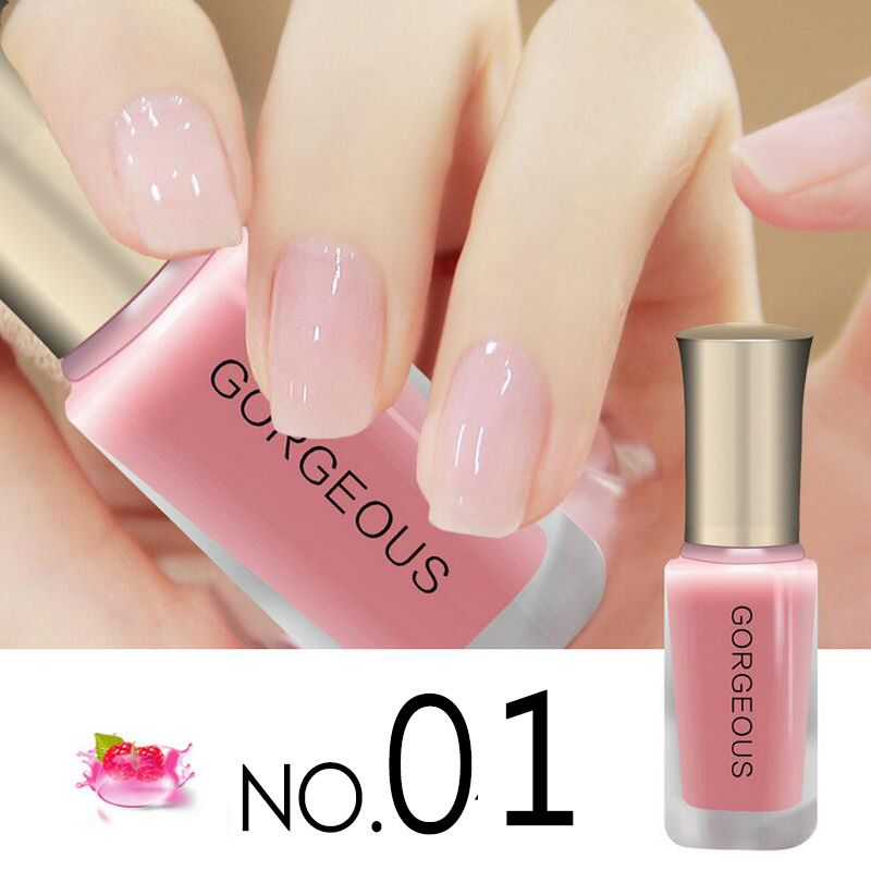 10ML Nude Color Semi Transparent Nail Polish Jelly Color Series ...