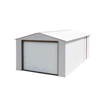 Duramax Building Products Imperial 12 Ft X 26 Ft X 8 1 2 Ft Off White Metal Garage Off White Without Floor 55131 The Home Depot Metal Garages Metal Storage Garage Wood Storage Sheds