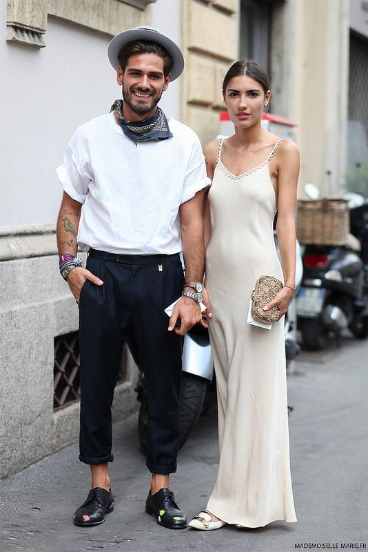 A slinky slip dress is so sexy you can even opt out of heels. These flats are slightly relaxed yet formal.   (Photo: Marie-Paola Bertrand-Hillion)