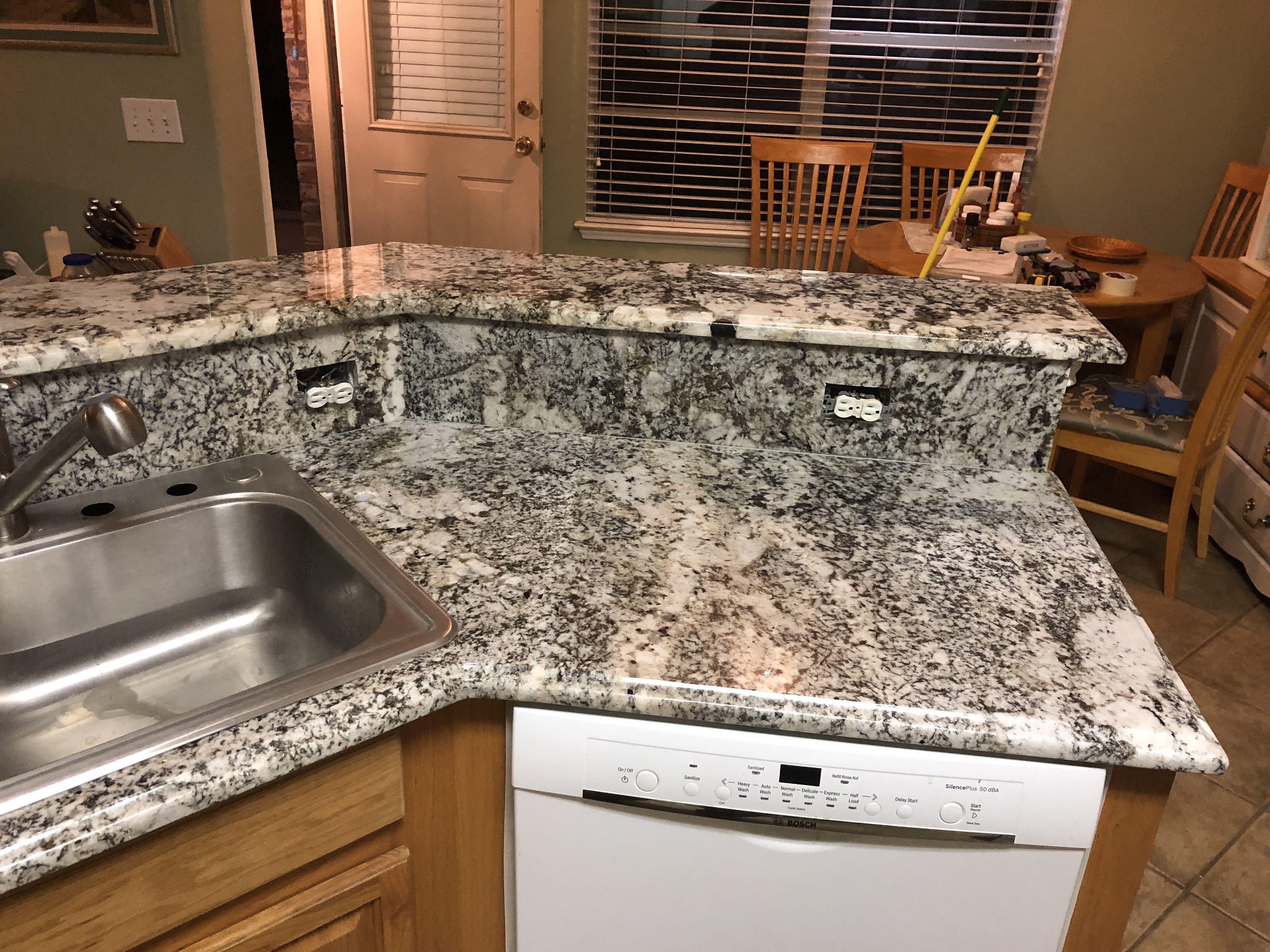 2 Cm Waterfall Granite By Sensa Granite Stone Countertops Granite Granite Countertops