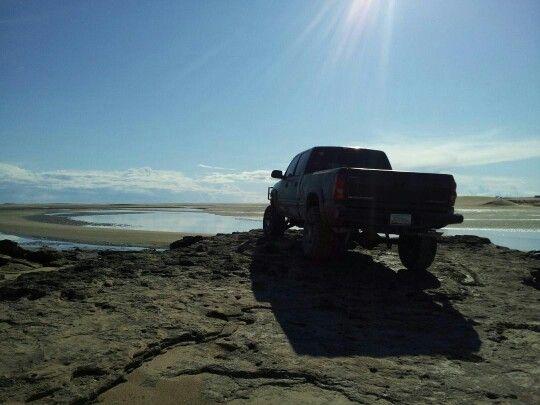 My lifted chevy silverado 1500hd enjoying the beauty of the beach in rocky point mexico - Yenko silverado burnout ...