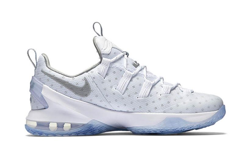 Nike Lebron 13 Low EXT Metallic Silver Basketball Shoes Super Deals
