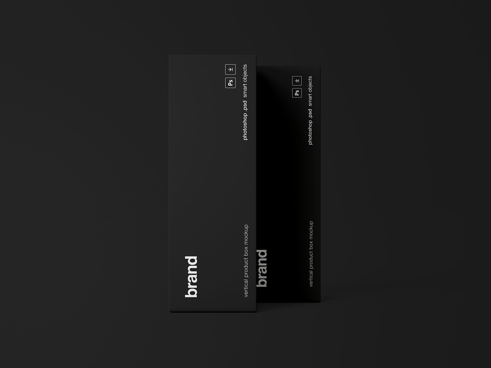 Download Product Box Package Psd Mockup A Set Of 2 Box Mockup Mockup Mockup Psd