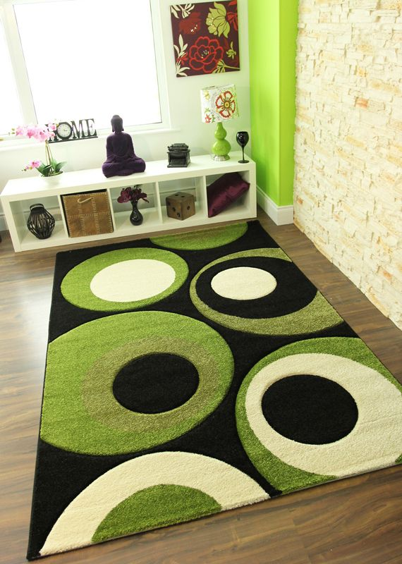 Small Medium Extra Large Xl Soft Thick Rugs New Green Quality Carpet Mats
