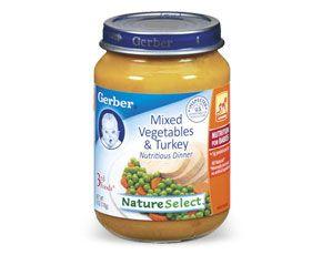 3rd Foods Mixed Vegetables Turkey Gerber Com Vegetable Dinners Baby Food Recipes Food