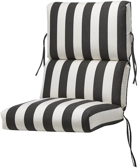 Bullnose High Back Outdoor Chair Cushion