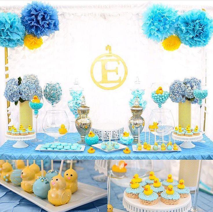 ideas for a rubber ducky baby shower dessert table rubber ducky rh pinterest com