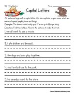 Capitalization worksheet letter worksheets worksheets and capitalization worksheet find the mistakes rewrite the sentence to make it correct beginning of sentence capital letters spiritdancerdesigns Image collections