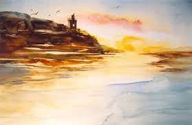 Resultado de imagem para aquarelas paisagens