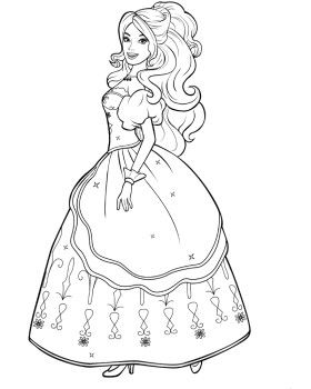Barbie Coloring Pages Mais