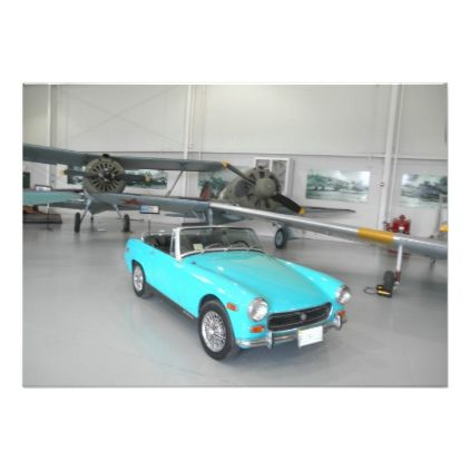 Bright Blue Classic Car | Zazzle.com