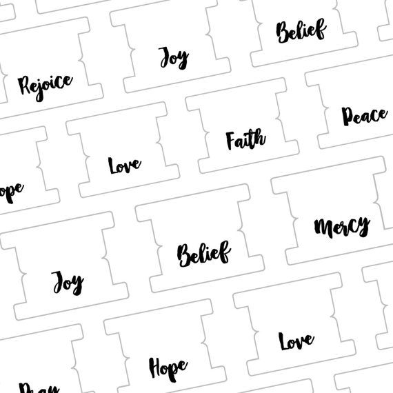 Printable Diy Blank Topical Tabs Template Journaling Ilrated Faith