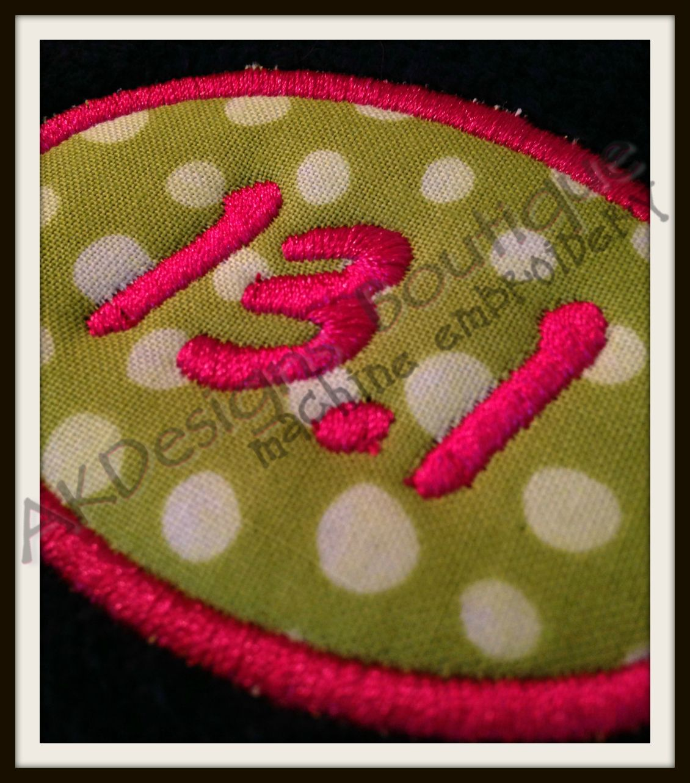 No 559 Applique Marathon And Half Marathon Machine Embroidery