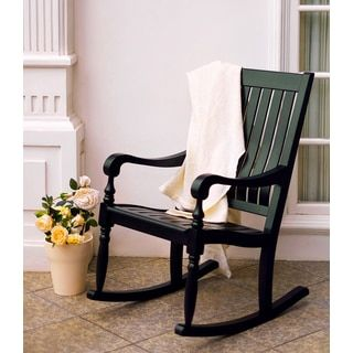 Miraculous Shop For Lyon Black Mahogany Porch Rocking Chair Get Free Unemploymentrelief Wooden Chair Designs For Living Room Unemploymentrelieforg