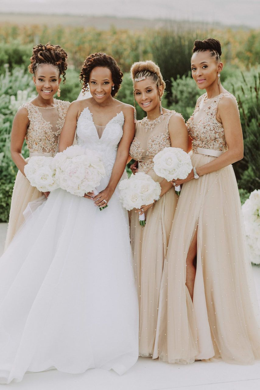 Nosipho And Sakhile S Stunningly Sophisticated Cape Town Wedding Munaluchi Bride Cape Town Wedding Champagne Bridesmaid Dresses Munaluchi Bride [ 1281 x 854 Pixel ]