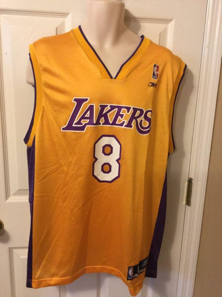 5b419a8073c Vintage Los Angeles Lakers Kobe Bryant #8 Reebok NBA Authentics Jersey  Large #Reebok #LosAngelesLakers