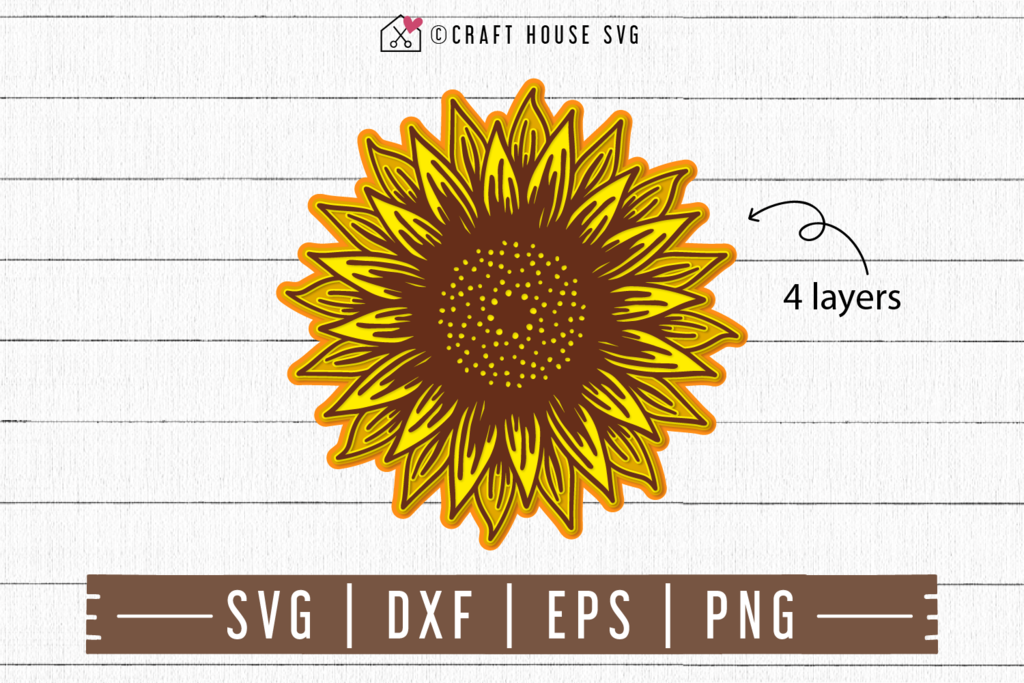 3D Layered Sunflower SVG in 2020   Svg, Mandala svg ...