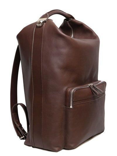 bonastre vegetable tanned leather backpack