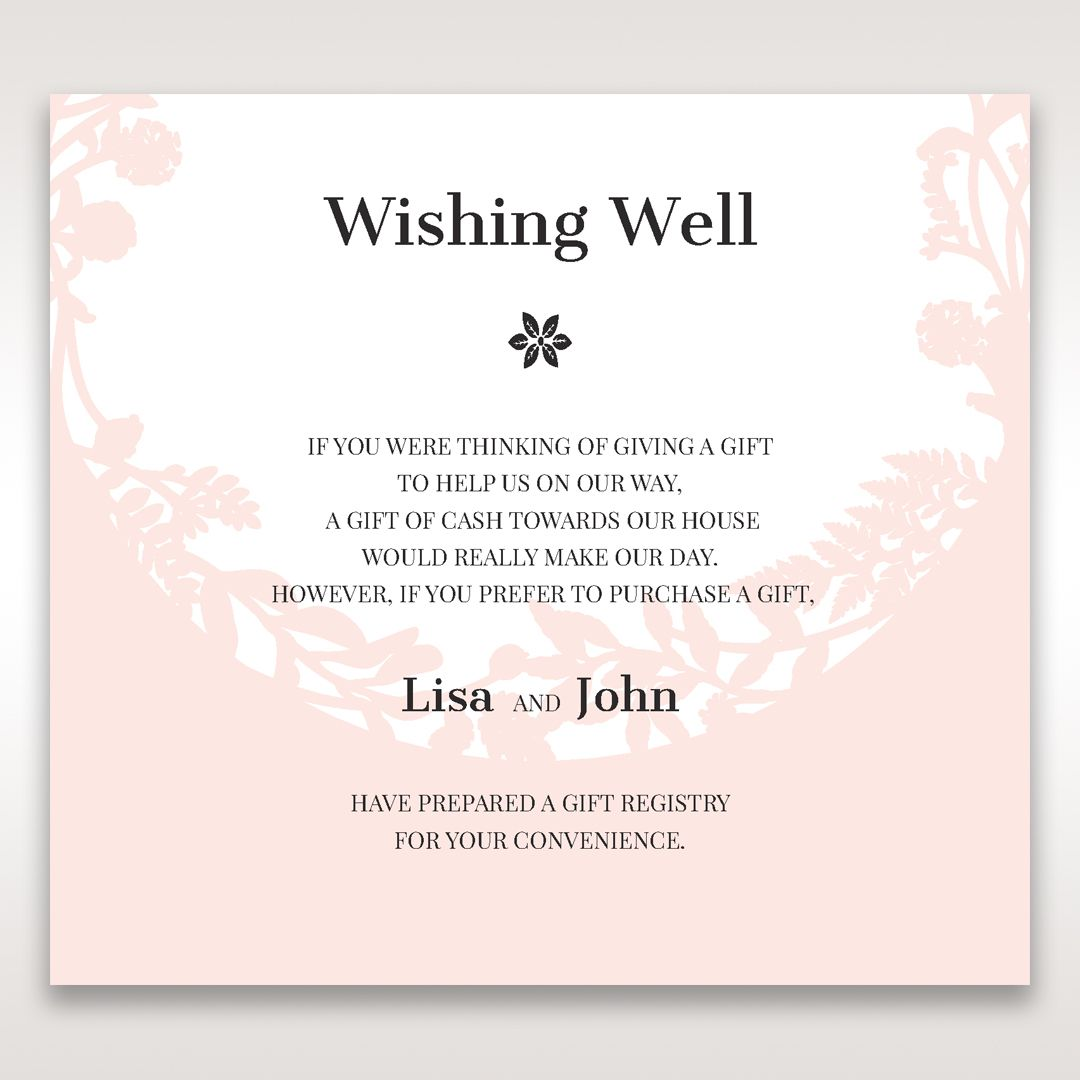 Wedding Invitation Gift Registry Wording: Wedding Wishing Well Wording - Google Search