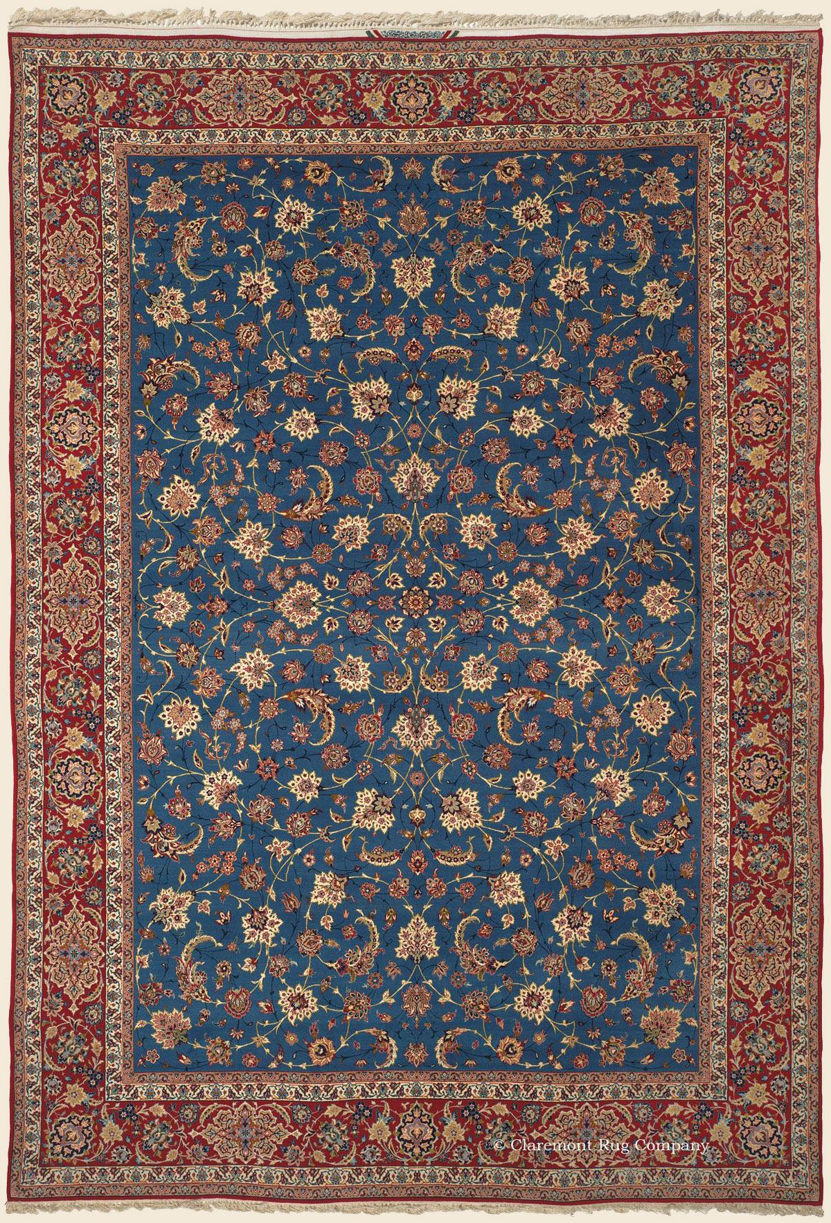 Isfahan 8 6 X 12 7 Circa 1950 Price 21 000 Central Persian Antique Rug Claremont Rug Company Persian Carpet Stair Runner Carpet Rugs On Carpet