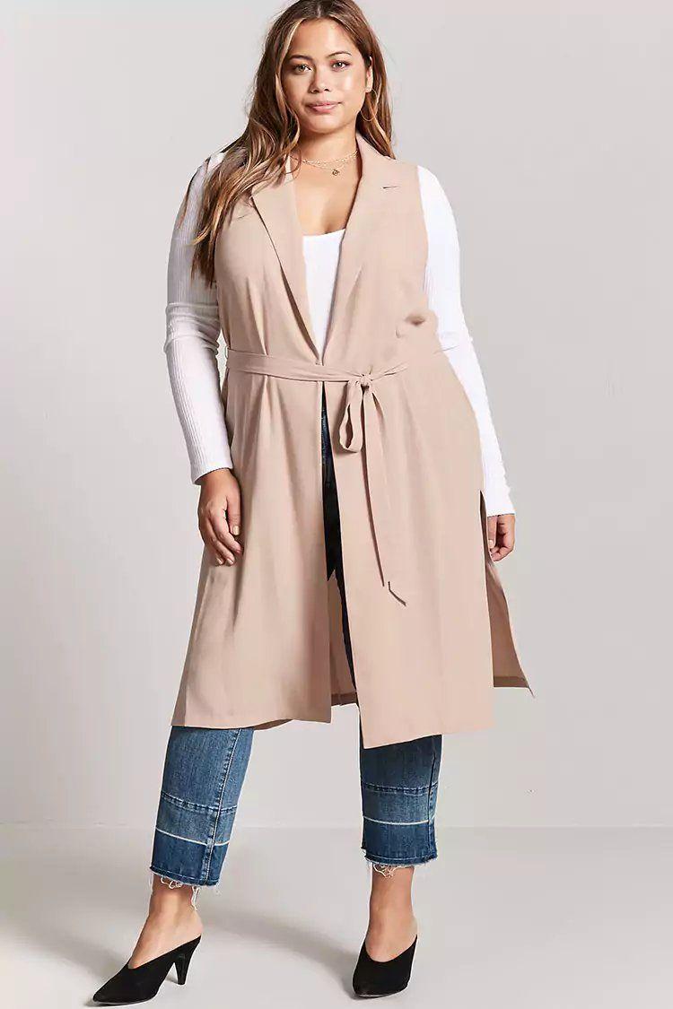 988143a9c9372 Plus Size Longline Vest