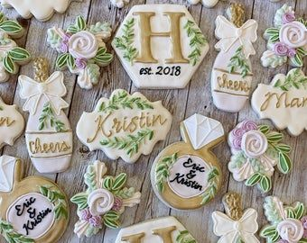 Engagement Ring Cookies SILVER OR GOLD-1 Dozen ***