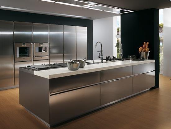 Moderne Design Der Küche Insel-inneren Ideen | 1 Idee K ... Design Edelstahl Kuchen