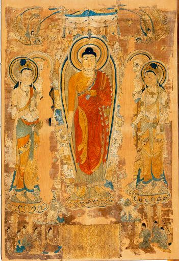 Shakyamuni preaching the Lotus Sutra on the Vulture Peak. British Museum. Photo : AKG-images / Erich Lessing.
